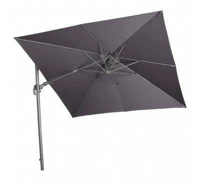 Falcon T2 2.7m Square Cantilever Parasol Anthracite with Base