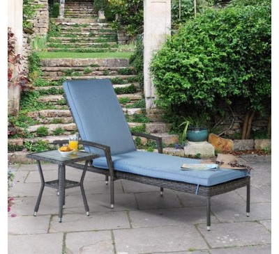 Athena Lounger and Side Table Set