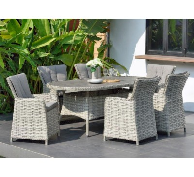 Eden 6-Seat Oval Dining Set