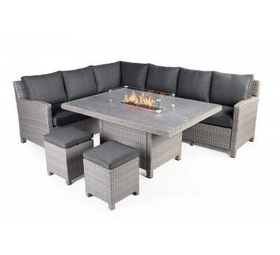 Catania Corner Modular Set with Fire Pit