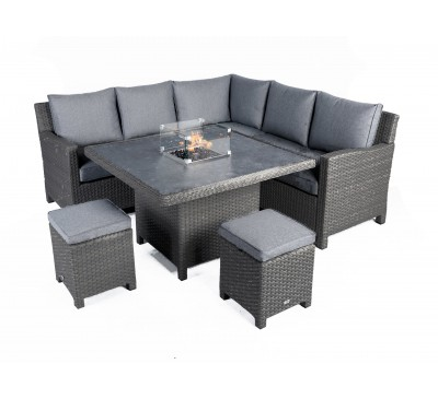 Catania Mini Modular Set with Fire Pit - Anthracite