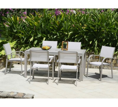 Morella 6-Seat Rectangular Dining Set