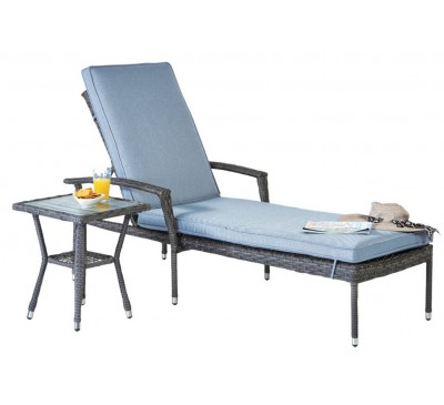Adria Lounger and Side Table Set