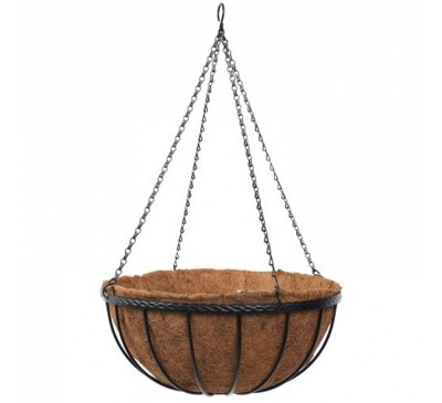 12 inch Saxon Hanging Basket with Liner