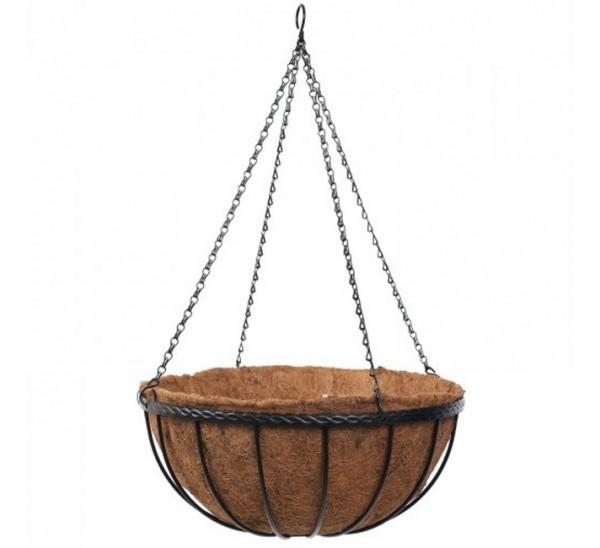 16 Inch Saxon Hanging Basket With Liner