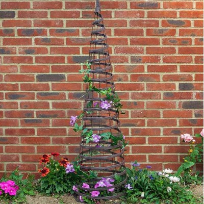 Faux Rattan Obelisk Chestnut Colour 1.5m