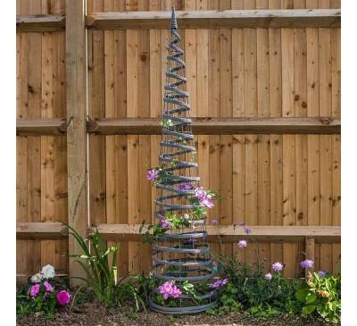 Faux Rattan Obelisk Slate Colour 1.5m