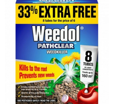Weedol Pathclear Liquid Concentrate Tubes x8