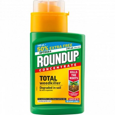 Roundup Optima+ Total Weedkiller Concentrate 210ml (140ml + 50% EXTRA FREE)
