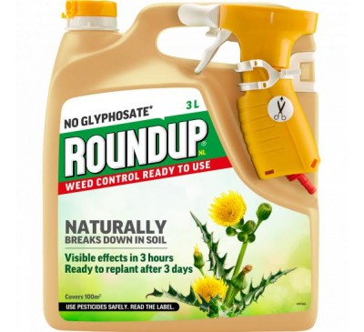 Roundup Weed Control Ready to Use Spray 3L