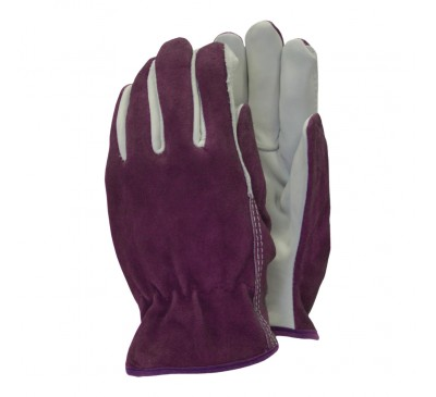 Town & Country Deluxe Premium Leather & Suede Gloves Medium