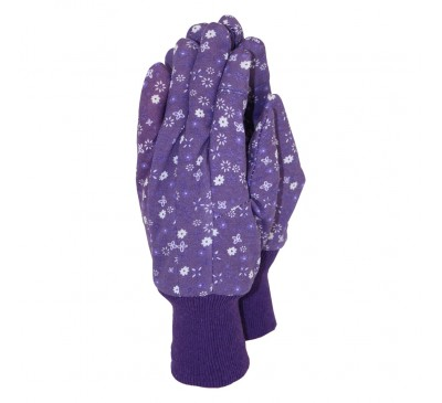 Town & Country Original Cotton Grip Gloves Purple Medium