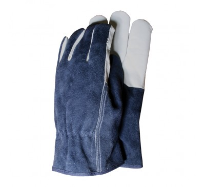 Town & Country Deluxe Premium Leather & Suede Gloves Large