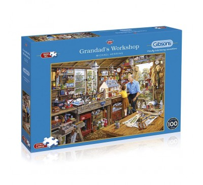 Gibsons Grandad's Workshop 500XL Piece Jigsaw Puzzle