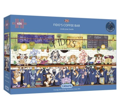 Gibsons Fido's Coffee Bar 636 Piece Jigsaw Puzzle