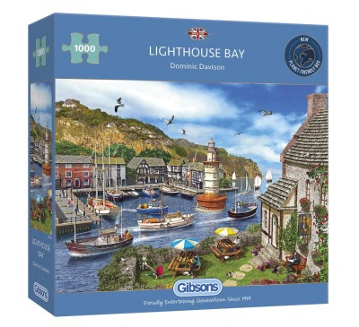 Gibsons Lighthouse Bay 1000 Piece Jigsaw Puzzle