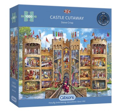 Gibsons Castle Cutaway 1000 Piece Jigsaw Puzzle