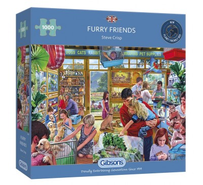 Gibsons Furry Friends 1000 Piece Jigsaw Puzzle