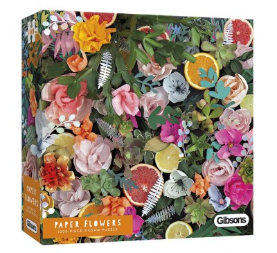Gibsons Paper Flowers 1000 Piece Jigsaw Puzzle