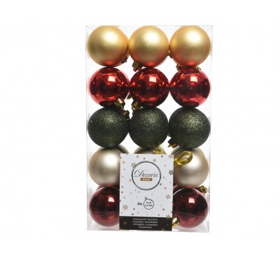 Shatter Proof Plain Bauble Mix Country Christmas