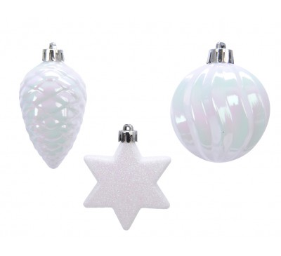 Shatter Proof Bunch Iridescent White 3 Designs to Choose From