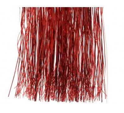 Vinyl Tinsel Shiny Red