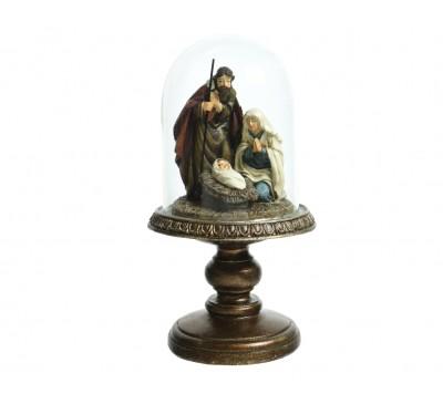 Nativity With Glass Cloche