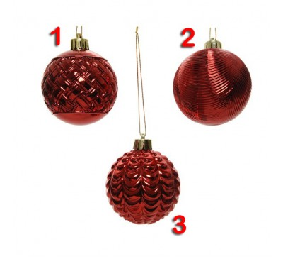 Assorted Shatter proof Baubles 3 designs to choose from