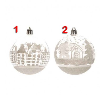 Assorted Clear Shatter proof Baubles 2 to choose from