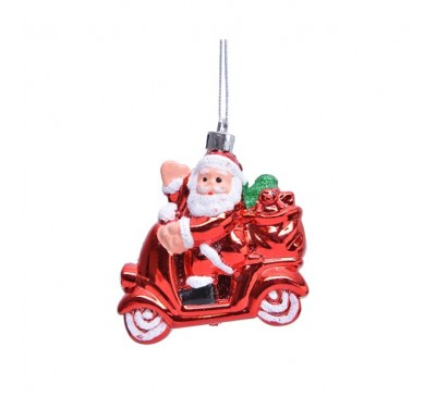Shatter proof Santa on a Scooter