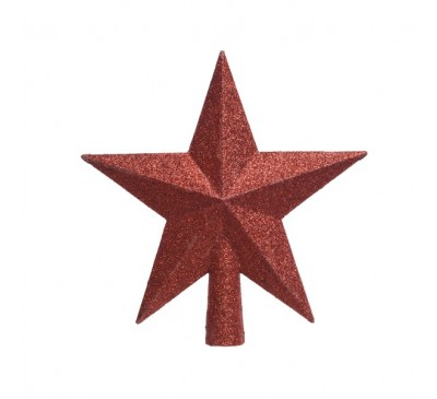 Shatter Proof Tree Top Star Red