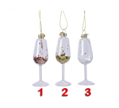 Glass Wine Glass with Glitter 2 to choose from