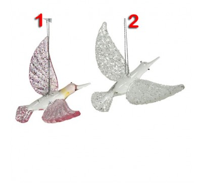 Glass Glittery Bird 2 to choose from