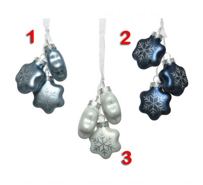 Assorted Snowflake Tree Decoration Bundles 3 to choose from