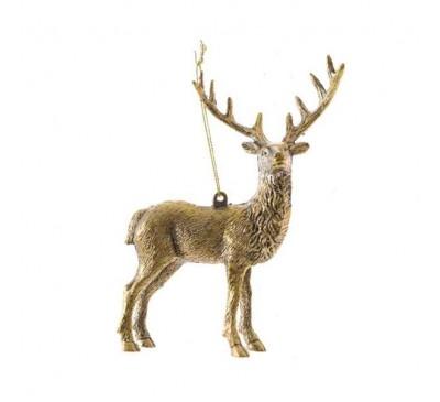 Gold Deer Tree Decorations