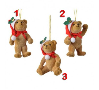 Bear with Hat Tree Decoration 3 to choose from