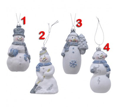 Snowman Tree Decoration 4 to choose from