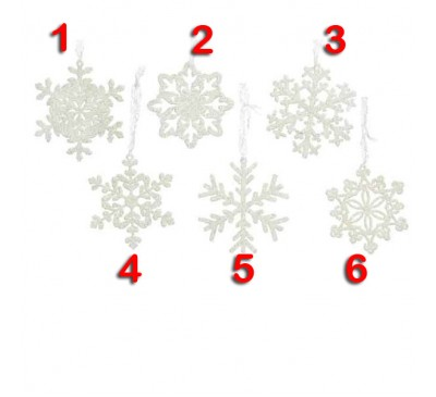 Snowflake Tree Decoration 6 to choose from