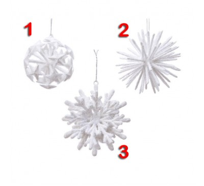 Snowflake Tree Decoration 3 to choose from