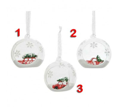 Car In Glass Bauble 3 to choose from