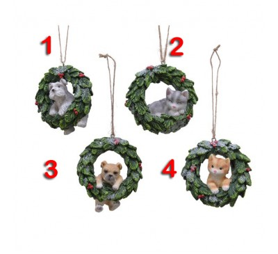 Animals in Wreaths Assorted 4 to choose from