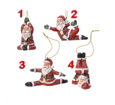 Assorted Acrobatic Santa Tree Decorations 4 to choose from
