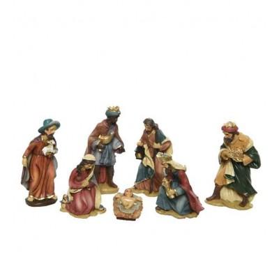 Nativity Set With 7 Figures 9cm