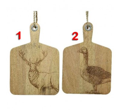 Mango Wood Chopping Board 38x26x2.5cm 2 designs to choose from
