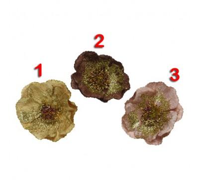 Velvet Rose on a Clip 11cm x 4cm