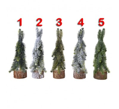 Assorted Miniature Tree with Wooden Base 5 to choose from