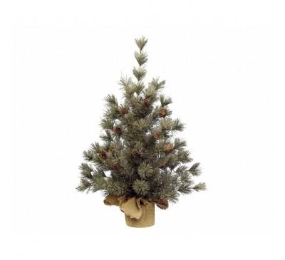 Mini Tree Hard needle with Pinecones 45cm