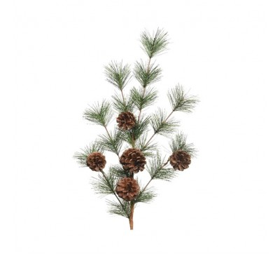 Imitation Branch with Pinecones and Needles