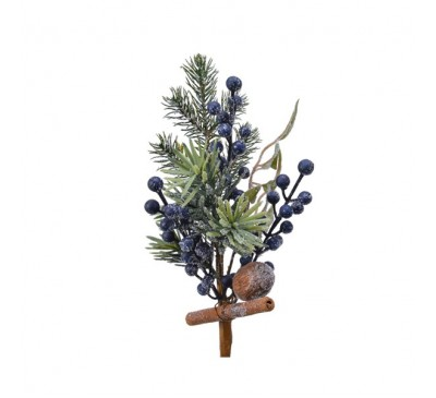 Frosted Deco Spray Blue Berries