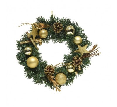 Decorative Wreath Bauble Glitter